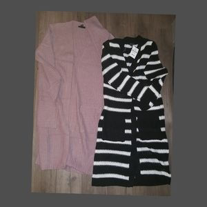2 NEW Forever 21 Cardigans long, fit S to M